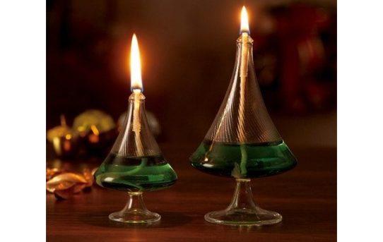 クリスマス・テーブルオイルランプ/ツリー型ランプ(大)(小)+オイルセット/ムラエルナックス/